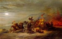 nächtlicher überfall der beduinen by h. kretschmer