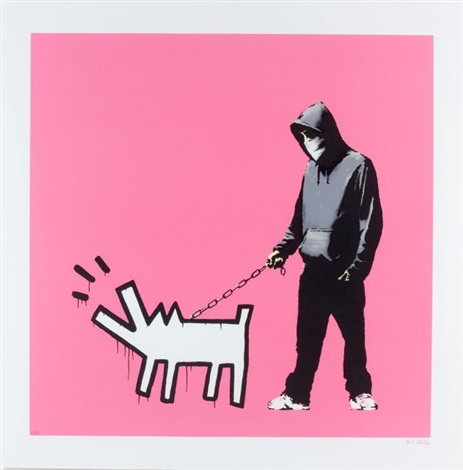 choose your weapon bright pink by banksy