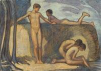 badende knaben by ludwig von hofmann
