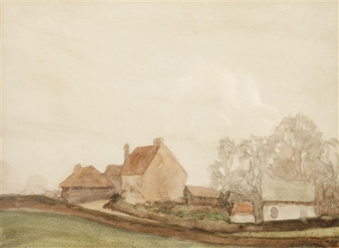 old essex a grey day by sir george clausen