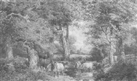 landscape scene with cows by henry james holding