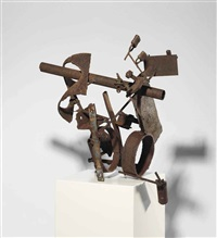 untitled (relief with locks) by richard stankiewicz
