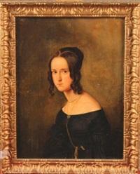 portrait de jeune femme by gustav zick