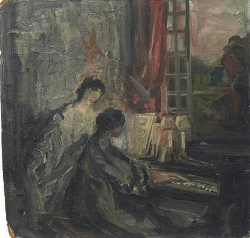 deux femmes au piano by pierre laprade