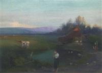 angling at the farm pond by hugh b. scott