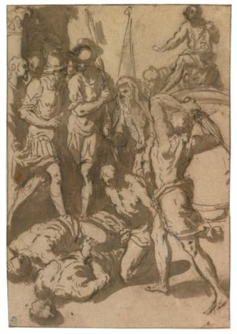 scene of martyrdom by jacopo palma il giovane