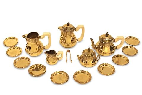 tea set set of 17 by jean emile puiforcat