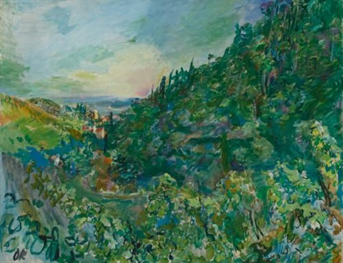 blick auf rapallo view of rapallo by oskar kokoschka