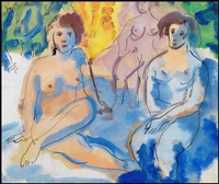 three nudes in a landscape by jori smith