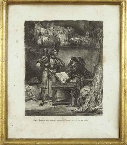 illustrations pour faust (8 works) by eugène delacroix