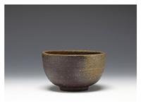 bizen tea bowl by yamamoto toshu