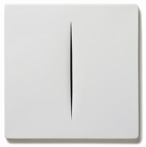 concetto spaziale bianco by lucio fontana