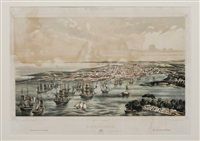 view of a port with shipping (after leonardo baranano 1837-1858) by eduardo laplante