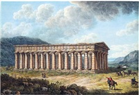 view of the temple of segesta by pietro martorana