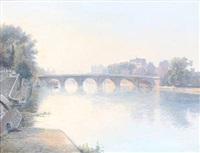 scenery from seinen, paris by wilhelm andersen