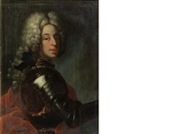 portraits of gentlemen, half-length, in armour (pair) by austrian school (18)