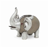 match holder in the form of an elephant by julius alexandrowitsch rappoport