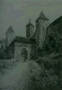 eingang zu einer mittelalterlichen befestigten stadt by edmund frederic arthur krenn