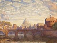 veduta di castel sant'angelo by max roeder