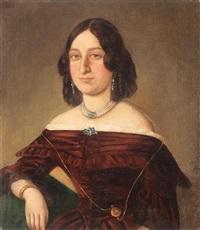 portretul smarandei vogoride, a doua soție a domnitorului mihail sturdza by niccolo livaditti