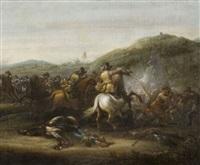 choc de cavalerie by abraham van der hoef