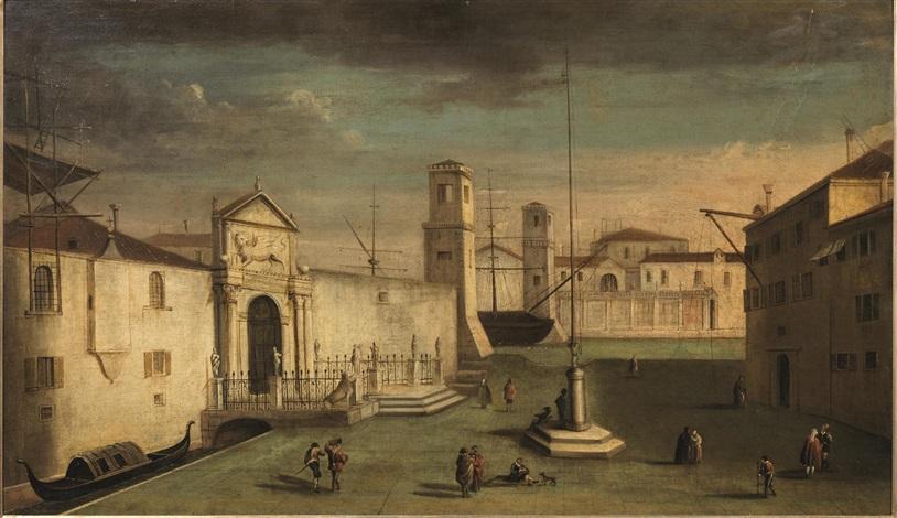 veduta di venezia con lingresso allarsenale by francesco guardi