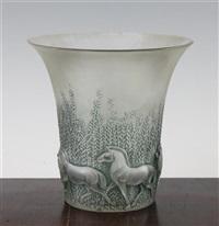 chevaux vase by rené lalique