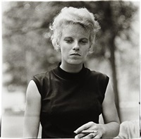 girl with a cigar in washington square park, n.y.c. by diane arbus