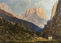 paesaggio montano by liverani