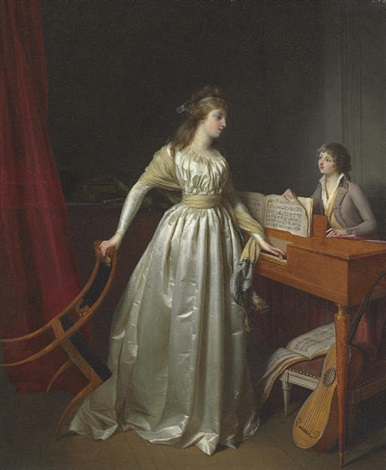 a lady at the clavichord by jean simon fournier