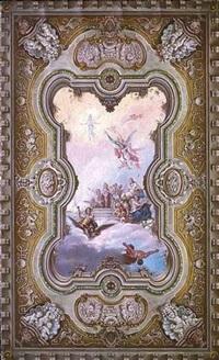 progetto di decorazione artistica per la sala di rappresentanza al palazzo di città in tarento by a. hueber
