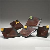 bowls (set of 5) by mark pharis