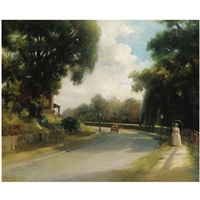 afternoon on the avenue by bayard henry tyler