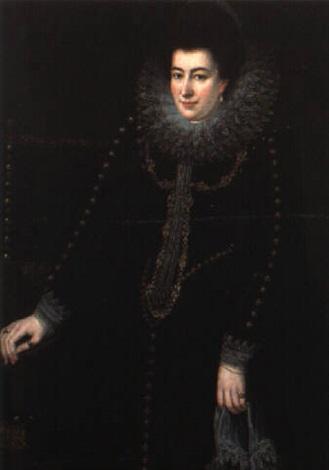 ritratto di dama a due terzi di figura accanto ad una sedia by sofonisba anguissola