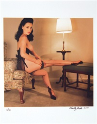 motel fetish. dita black seamed stockings by chas ray krider