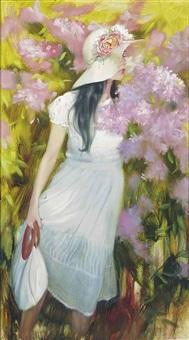 among the flowers by maria boohtiyarova