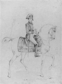 portrait of general lafayette on horseback by victor-jean adam