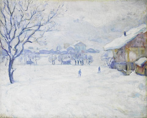 megeve in winter by arnold borisovich lakhovsky
