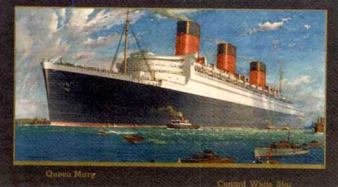 queen mary cunard white star line by william mcdowell