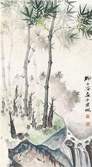 竹石山泉 by liu zigu