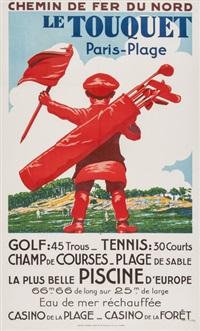 le touquet, golf, tennis by edouard courchinoux