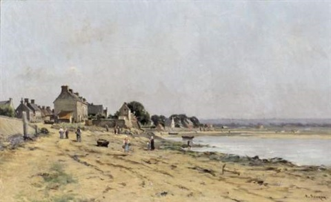 plage normande by adrien jacques sauzay