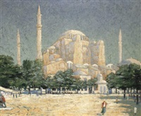 sainte-sophie, constantinople by george washington smith