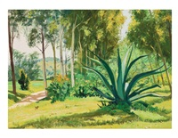 paisaje verde con perro by mario almela
