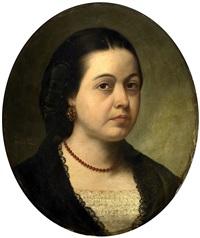 retrato de señora by josé gutiérrez de la vega