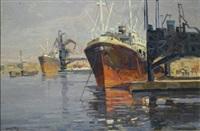 barche all'ormeggio by angiolo volpe