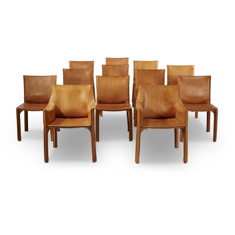 Excellent Set Of Twelve Leather Cab Chairs Italy By Mario Bellini On Ocoug Best Dining Table And Chair Ideas Images Ocougorg
