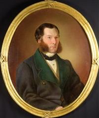 portrait of a man by wenzel kroupa