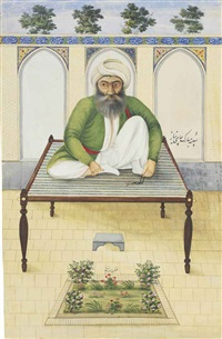 portrait of haji niyaz by mirza jani