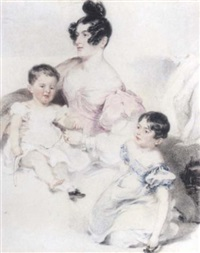 portrait of a lady and her two children by frederick tatham